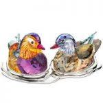 Swarovski Topaz Mandarin Ducks