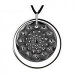 Lalique Cactus Black Medal Pendant