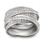 Swarovski Spiral Silver Ring, Size 55