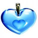 Lalique Double Heart Light Blue Pendant
