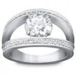 Swarovski Vitality Silver Ring, Size 58