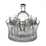 Waterford Crystal Lismore 60th Anniversary and Diamond Vodka Set in Chill Bowl