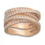 Swarovski Spiral Rose Gold Ring, Size 58