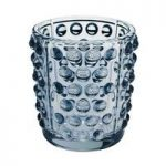 Lalique Mossi Blue Luster Votive