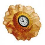Lalique Amber Sun Clock