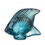 Lalique Turquoise Luster Fish