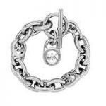 Michael Kors Logo-Lock Charm Bracelet, Silver