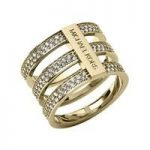 Michael Kors Triple-Stack Pave Ring, Golden Size O