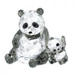 Swarovski Panda and Baby