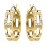 Swarovski Cubist Gold Hoop Earrings