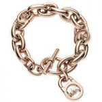 Michael Kors Logo Lock Charm Bracelet, Rose Gold Tone
