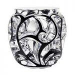 Lalique Tourbillons Clear & Black Enamel XXL Vase