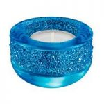Swarovski Shimmer Capri Blue Tea Light