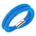 Swarovski Stardust Capri Blue Double Bracelet, Medium