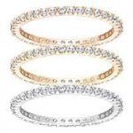 Swarovski Vittore Set of 3 Rings, Size 52