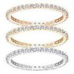 Swarovski Vittore Set of 3 Rings, Size 52