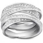 Swarovski Spiral Silver Ring, Size 52