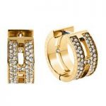 Michael Kors Maritime Huggie Hoop Earrings, Yellow Gold Tone