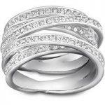 Swarovski Spiral Silver Ring, Size 60