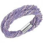 Swarovski Stardust Twist Purple Bracelet, Small