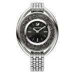 Swarovski Crystalline Oval Black & Silver Bracelet Watch