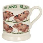 Emma Bridgewater Sandy & Black Pig 1/2 Pint Mug