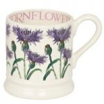 Emma Bridgewater Flowers Cornfower 1/2 Pint Mug