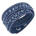 Swarovski Slake Dot Dark Blue Bracelet, Medium