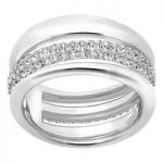 Swarovski Exact Silver Ring, Size 52