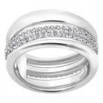 Swarovski Exact Silver Ring, Size 58