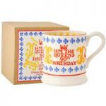 Emma Bridgewater Queens 90th Birthday 1/2 Pint Mug, Boxed