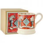 Emma Bridgewater Queens 90th Birthday Unicorn & Lion 1/2 pint Mug, Boxed