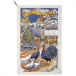 Emma Bridgewater Year in the Country Winter Scene Tea Towel