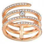 Swarovski Creativity Coiled Rose Gold Ring, Size 52