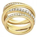 Swarovski Dynamic Gold Ring, Size 52
