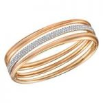 Swarovski Exact Rose Gold Bangle, Medium
