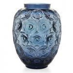 Lalique Anemones Midnight Blue Grand Vase, Limited Edition of 188 Pieces