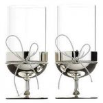 Vera Wang Love Knots Giftware -Tealight Holders Pair