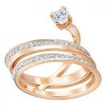 Swarovski Fresh Rose Gold Wrap Ring, Size 58