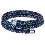 Swarovski Crystaldust Blue Double Bangle, Small