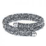 Swarovski Crystaldust Grey Double Bangle, Small