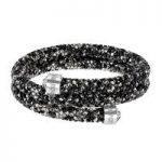 Swarovski Crystaldust Black & Grey Multi Double Bangle, Medium