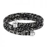 Swarovski Crystaldust Black & Grey Multi Double Bangle, Small