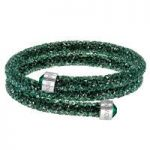 Swarovski Crystaldust Green Double Bangle, Medium