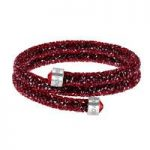Swarovski Crystaldust Red Double Bangle, Medium