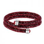 Swarovski Crystaldust Red Double Bangle, Small