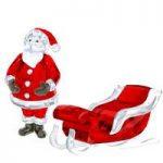 Swarovski Crystal Santa Claus & Sleigh Set